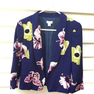 J. Crew Factory Blazer Moody Floral Cropped